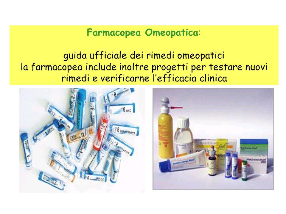 Farmacopea Omeopatica: guida ufficiale dei rimedi omeopatici la farmacopea include inoltre progetti per testare nuovi rimedi e verificarne lefficacia