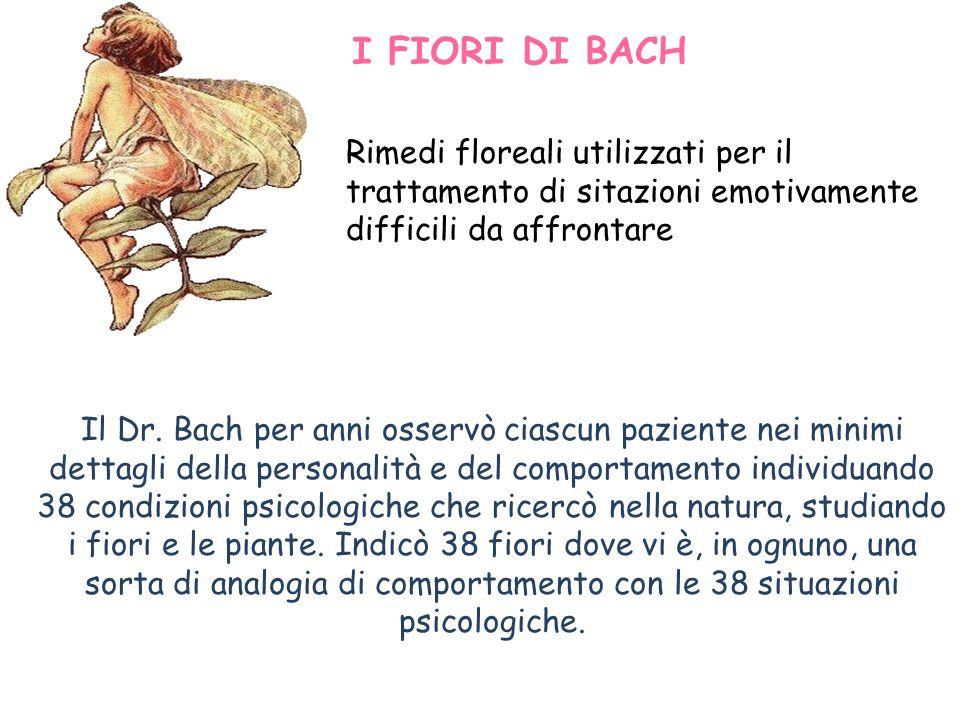 Il Dr. Bach per anni osservò ciascun paziente nei minimi dettagli della personalità e del comportamento individuando 38 condizioni psicologiche che ri