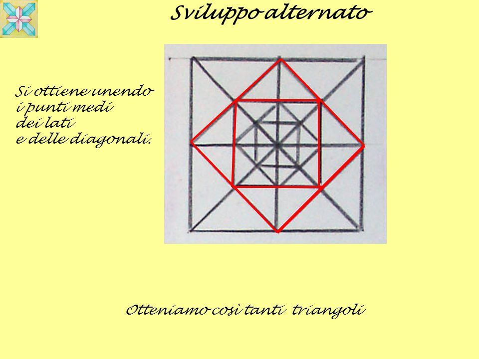 Si ottiene unendo i punti medi dei lati e delle diagonali. Sviluppo alternato Otteniamo così tanti triangoli