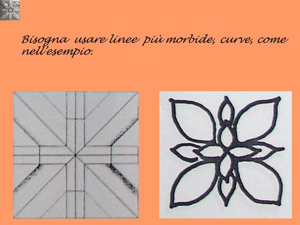 Bisogna usare linee più morbide, curve, come nellesempio.