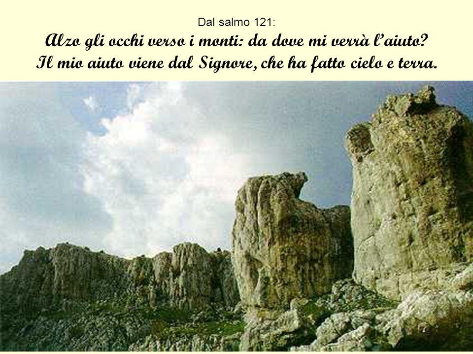Dal salmo 130: Lanima mia attende il Signore più che le sentinelle laurora.