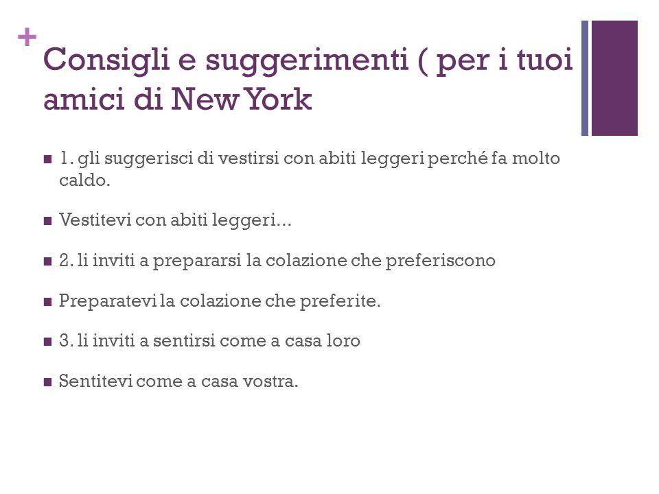 + Consigli e suggerimenti ( per i tuoi amici di New York 1.