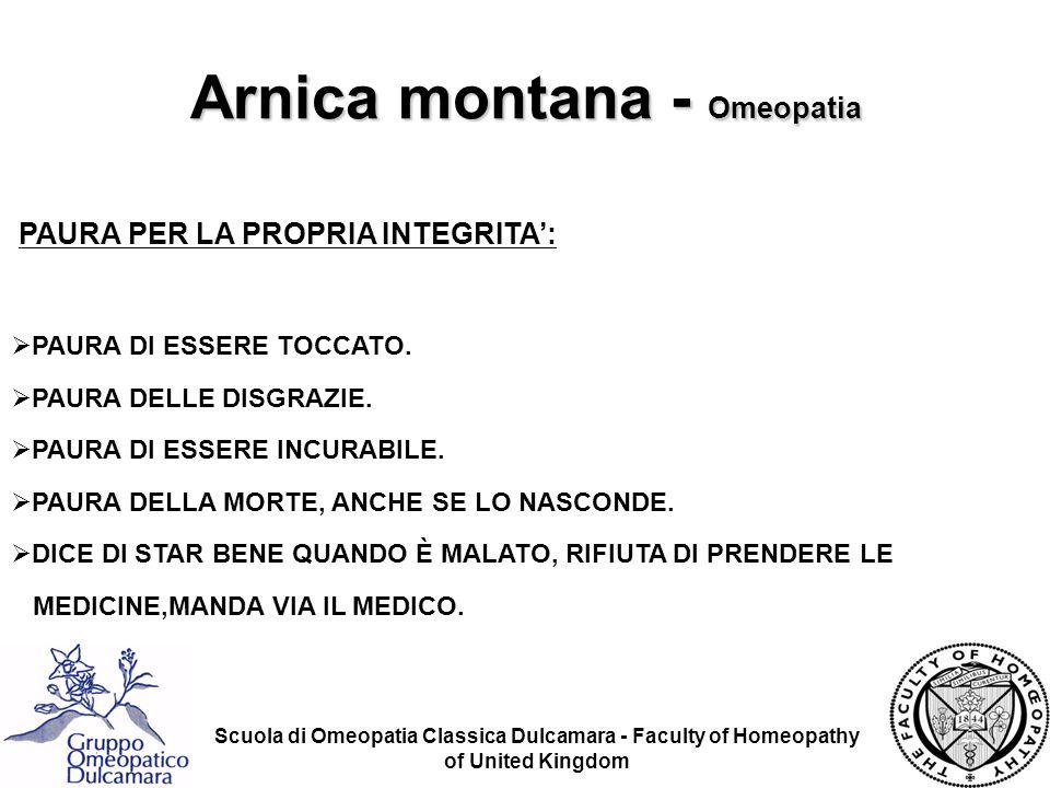 Scuola di Omeopatia Classica Dulcamara - Faculty of Homeopathy of United Kingdom PAURA PER LA PROPRIA INTEGRITA: PAURA DI ESSERE TOCCATO. PAURA DELLE