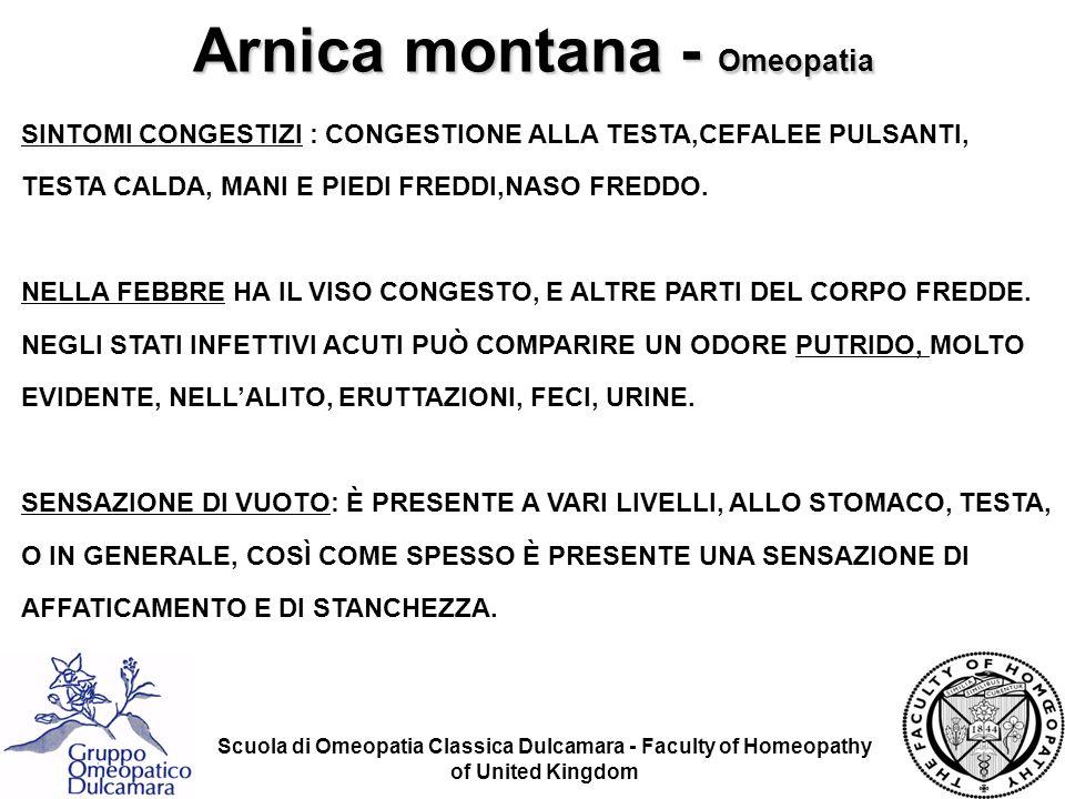 Scuola di Omeopatia Classica Dulcamara - Faculty of Homeopathy of United Kingdom SINTOMI CONGESTIZI : CONGESTIONE ALLA TESTA,CEFALEE PULSANTI, TESTA C