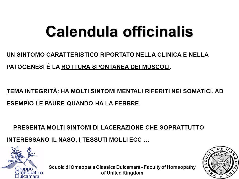 Scuola di Omeopatia Classica Dulcamara - Faculty of Homeopathy of United Kingdom UN SINTOMO CARATTERISTICO RIPORTATO NELLA CLINICA E NELLA PATOGENESI