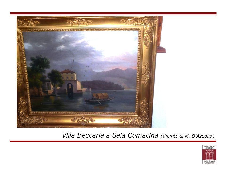 Villa Beccaria a Sala Comacina (dipinto di M. DAzeglio)