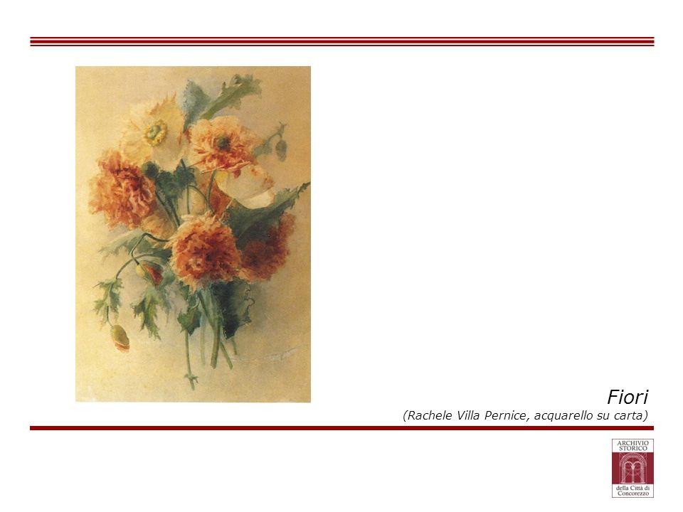 Fiori (Rachele Villa Pernice, acquarello su carta)