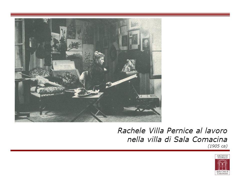 Rachele Villa Pernice al lavoro nella villa di Sala Comacina (1905 ca)