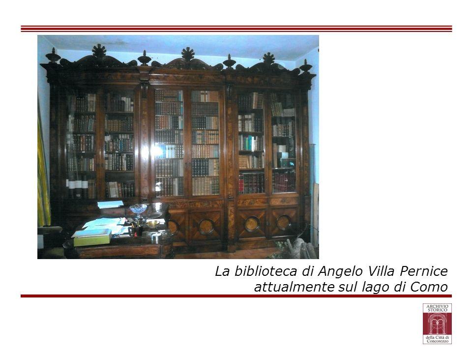 La biblioteca di Angelo Villa Pernice attualmente sul lago di Como