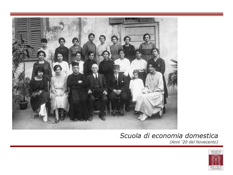 Scuola di economia domestica (Anni 20 del Novecento)