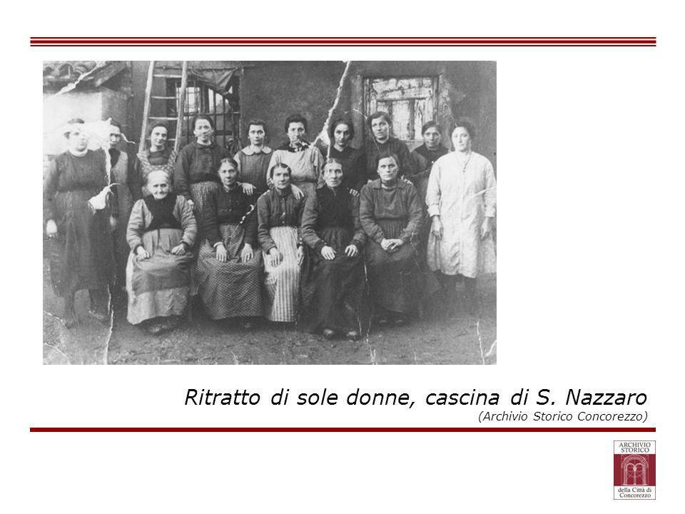 Ritratto di sole donne, cascina di S. Nazzaro (Archivio Storico Concorezzo)