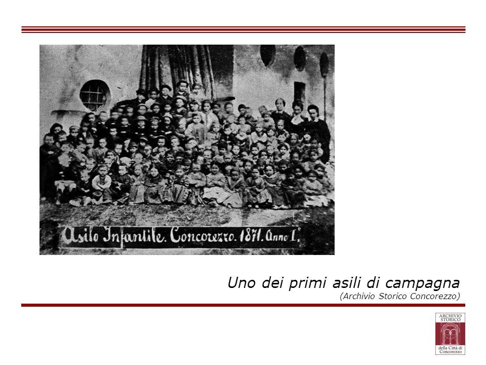 Uno dei primi asili di campagna (Archivio Storico Concorezzo)