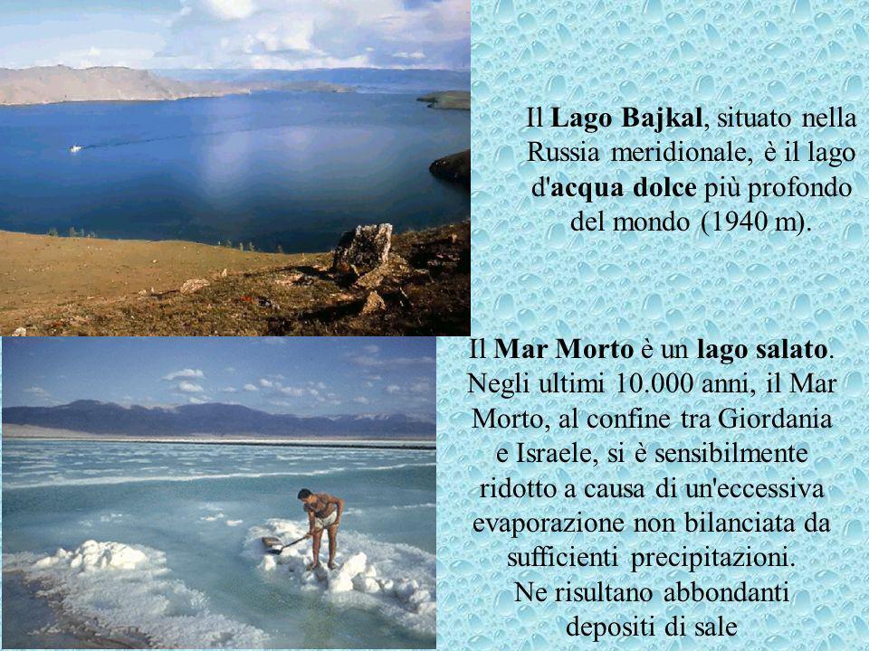 Il Mar Morto è un lago salato.
