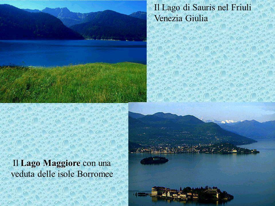I maggiori laghi dell'Italia settentrionale di origine glaciale Lago di Garda Lago Maggiore Lago di Como Il Lago dIseo