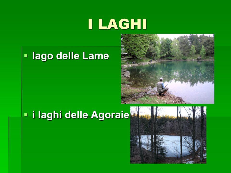 I LAGHI lago delle Lame lago delle Lame i laghi delle Agoraie i laghi delle Agoraie