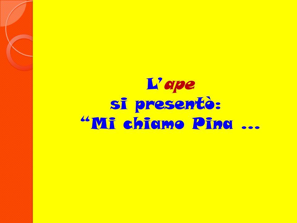 Lape si presentò: Mi chiamo Pina …