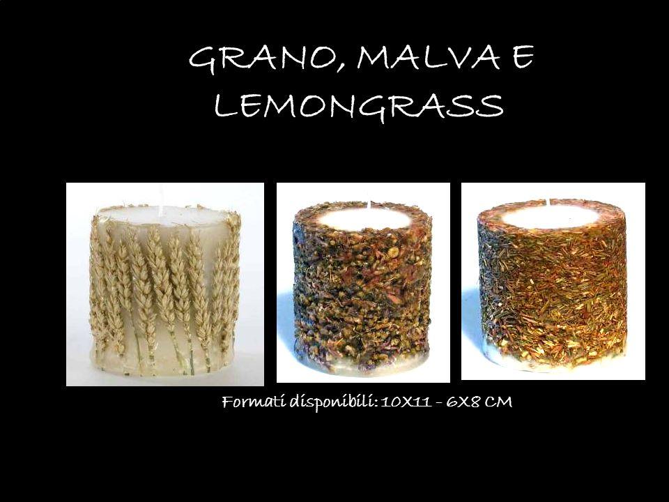 GRANO, MALVA E LEMONGRASS Formati disponibili: 10X11 - 6X8 CM