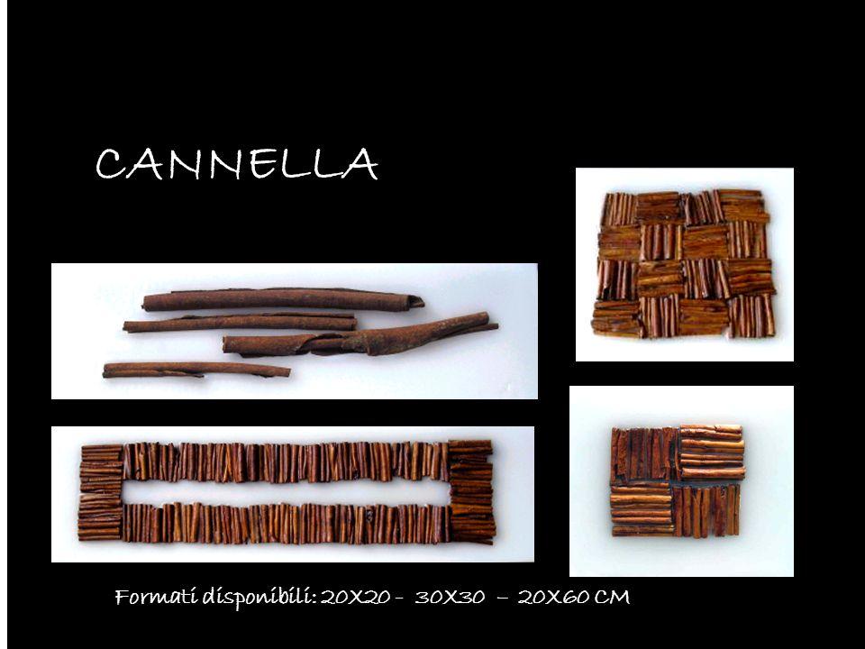 CANNELLA Formati disponibili: 20X20 - 30X30 – 20X60 CM