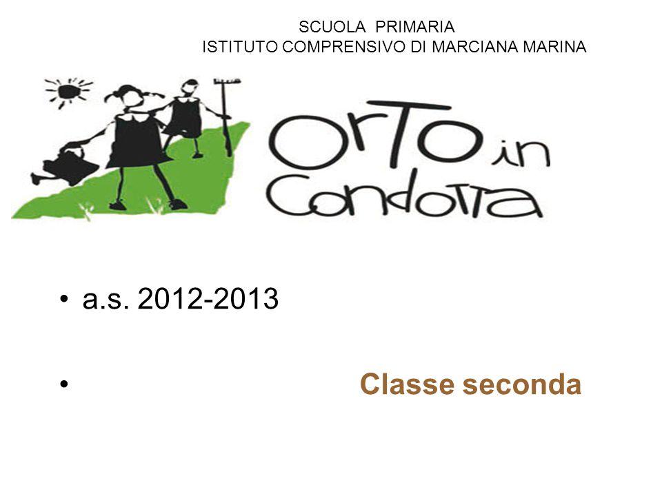a.s. 2012-2013 Classe seconda SCUOLA PRIMARIA ISTITUTO COMPRENSIVO DI MARCIANA MARINA