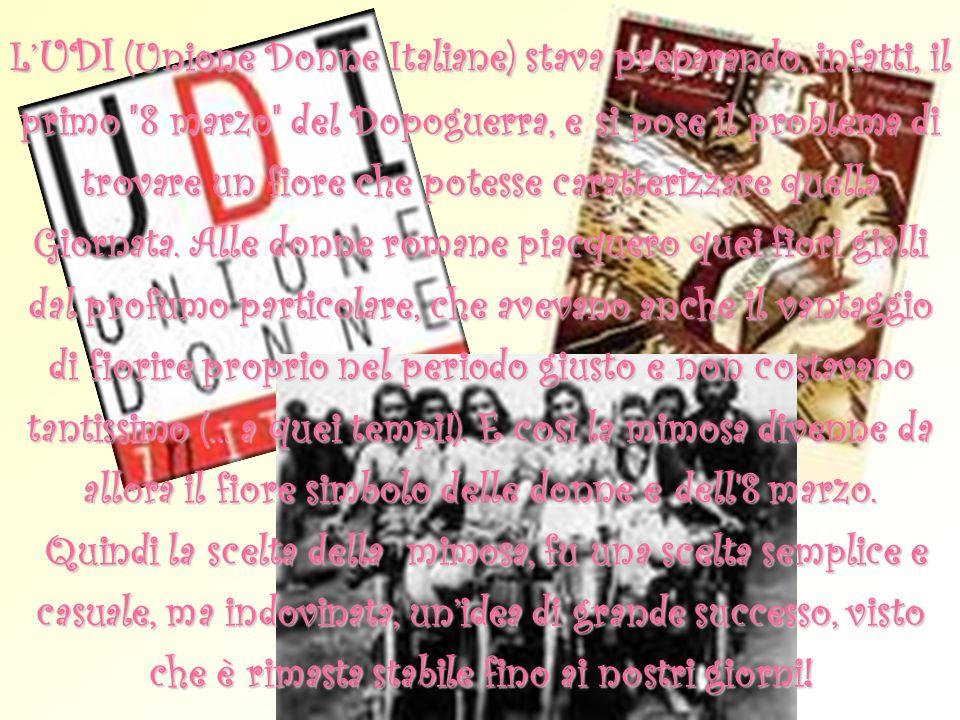 L UDI (Unione Donne Italiane) stava preparando, infatti, il primo