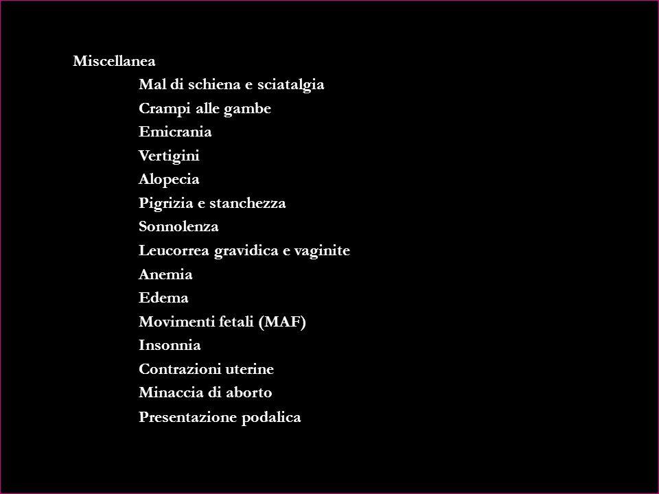 CAPITOLO VIII – OMEOPATIA E FIORI DI BACH IN GRAVIDANZA Omeopatia e Fiori di Bach Omeopatia: disturbi fisici della gravidanza Disturbi Digestivi Nause