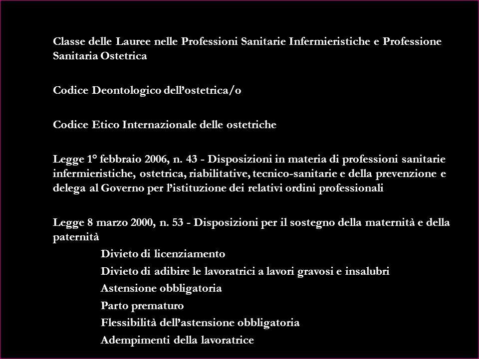 CAPITOLO XI – LEGISLAZIONE OSTETRICA D.M. 14-09-1994, n. 740 - Regolamento concernente lindividuazione della figura e del relativo profilo professiona