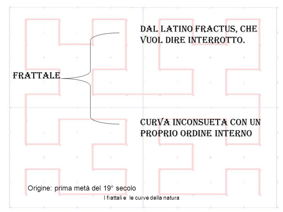 I frattali e le curve della natura dal latino fractus, che vuol dire interrotto.