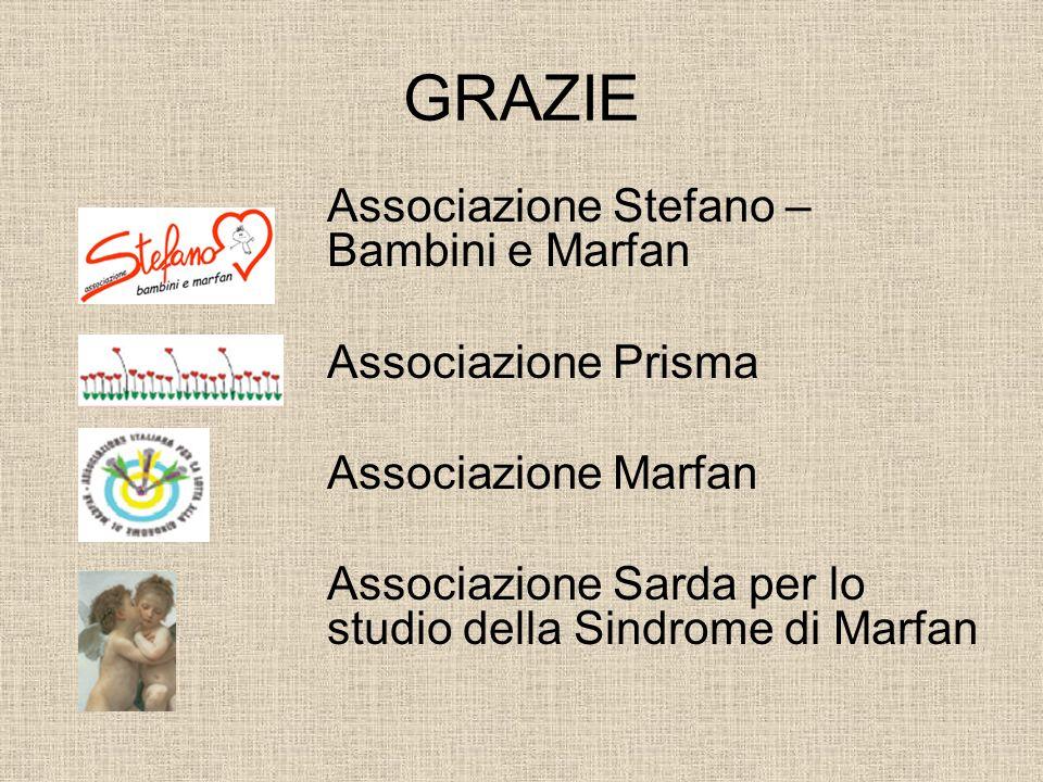 GRAZIE Associazione Stefano – Bambini e Marfan Associazione Prisma Associazione Marfan Associazione Sarda per lo studio della Sindrome di Marfan