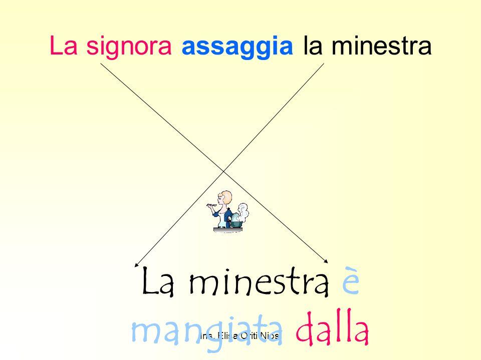 Ins. Elisa Oriti Niosi La signora assaggia la minestra La minestra è mangiata dalla signora