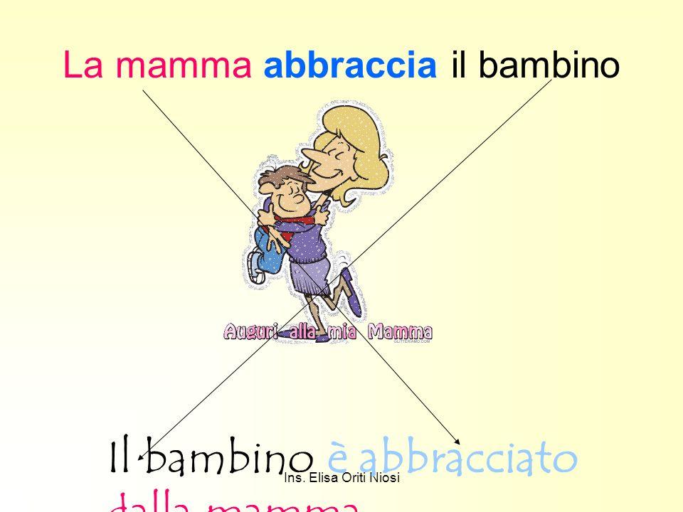 Ins. Elisa Oriti Niosi La mamma abbraccia il bambino Il bambino è abbracciato dalla mamma