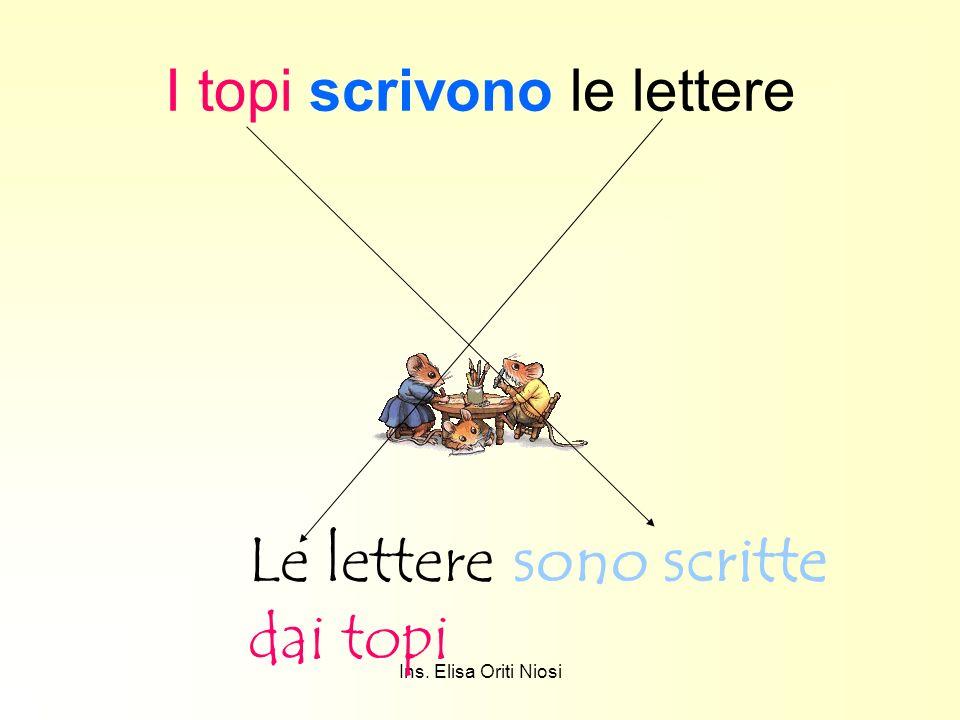 Ins. Elisa Oriti Niosi I topi scrivono le lettere Le lettere sono scritte dai topi