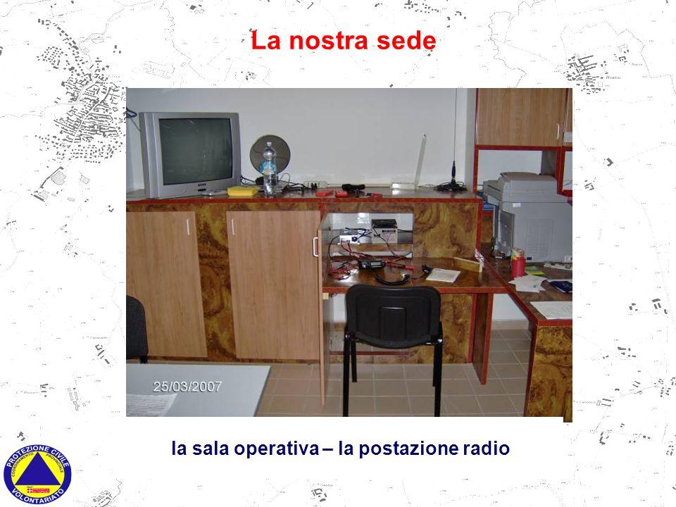 la sala operativa - postazione telematica La nostra sede la sala operativa – la postazione radio