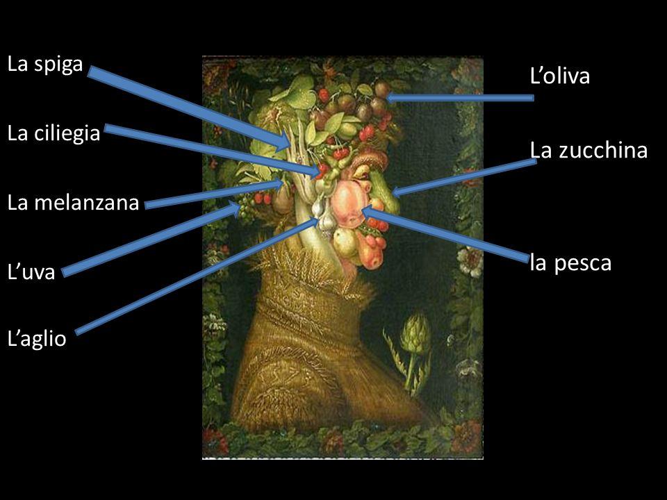 Loliva La zucchina la pesca La pera La spiga La ciliegia La melanzana Luva Laglio