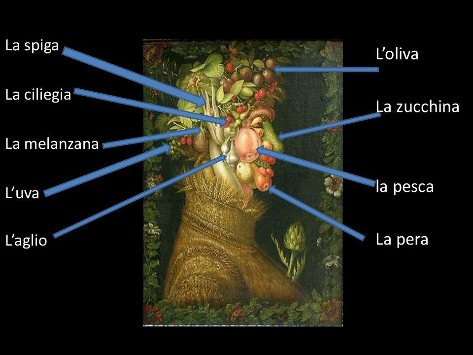 Loliva La zucchina la pesca La pera Il carciofo La spiga La ciliegia La melanzana Luva Laglio