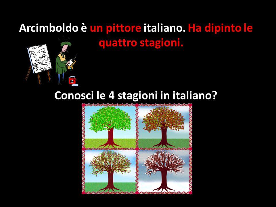 Arcimboldo è un pittore italiano.Ha dipinto le quattro stagioni.