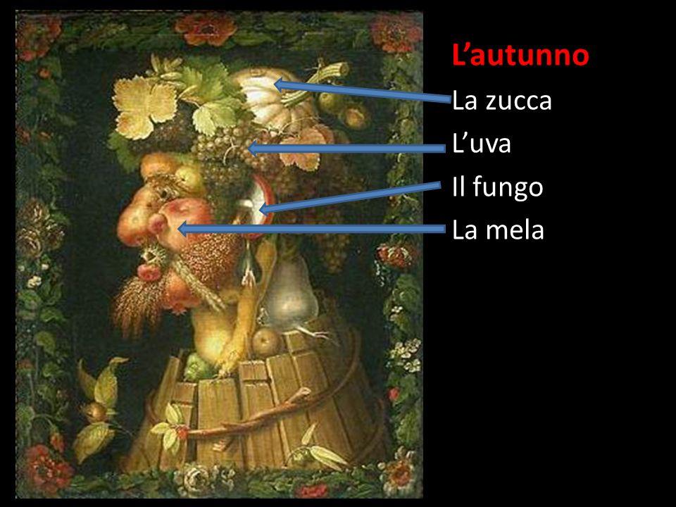 Lautunno La zucca Luva Il fungo La mela La carota