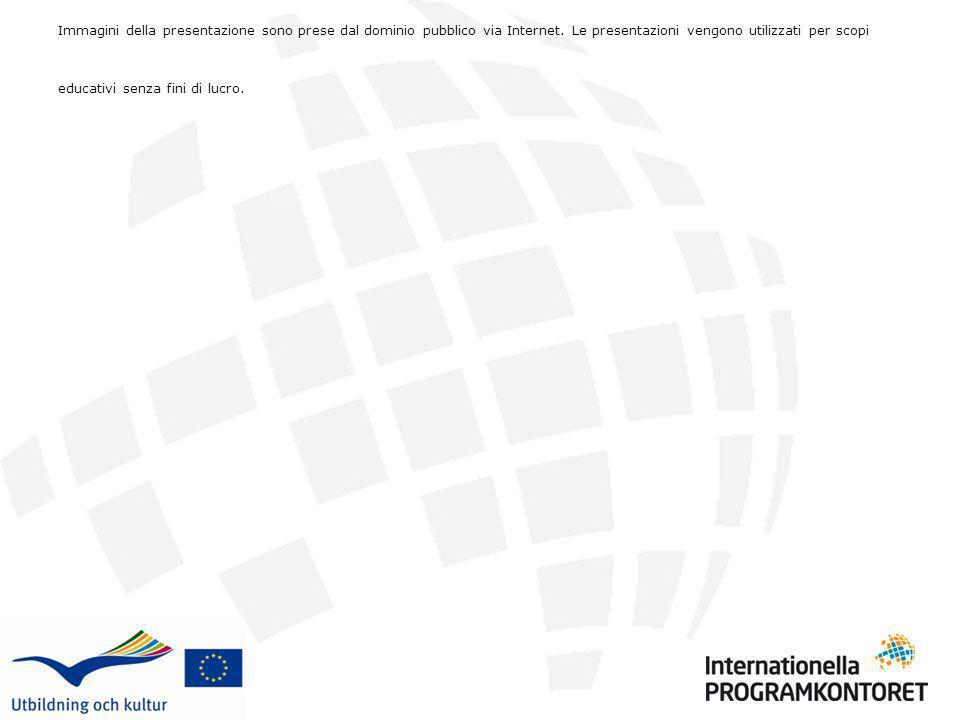 Immagini della presentazione sono prese dal dominio pubblico via Internet. Le presentazioni vengono utilizzati per scopi educativi senza fini di lucro