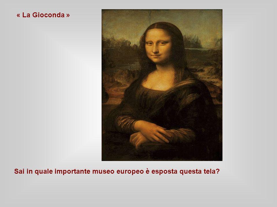 « La Gioconda » Sai in quale importante museo europeo è esposta questa tela?