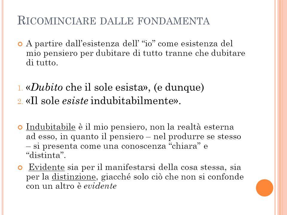 I L SIGNIFICATO DELLA PAROLA IDEA Per il realismo filosofico: Lidea non è l id quod conoscitur, (ciò che è conosciuto) bensì è l id quo conoscitur.