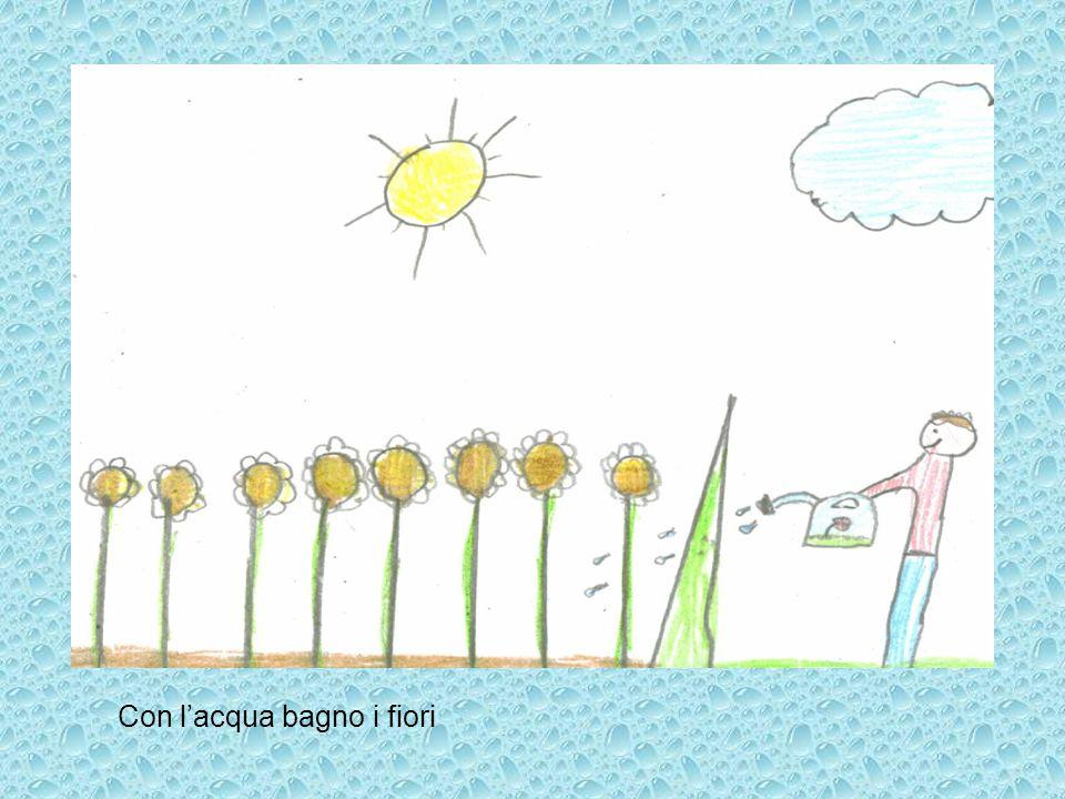 Con lacqua bagno i fiori