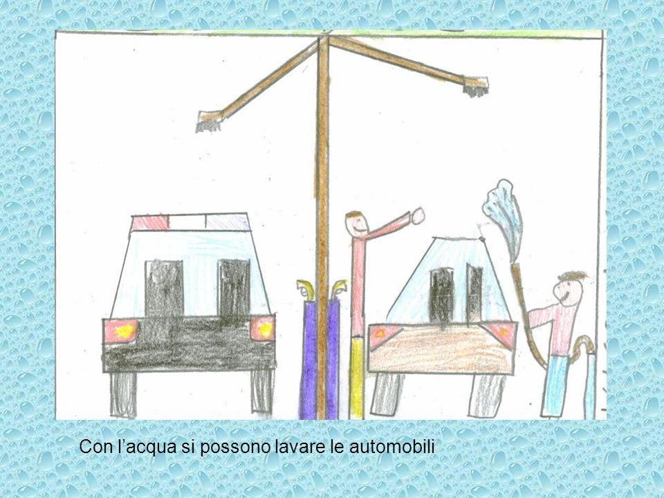 Con lacqua si possono lavare le automobili