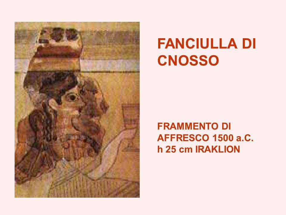 FANCIULLA DI CNOSSO FRAMMENTO DI AFFRESCO 1500 a.C. h 25 cm IRAKLION