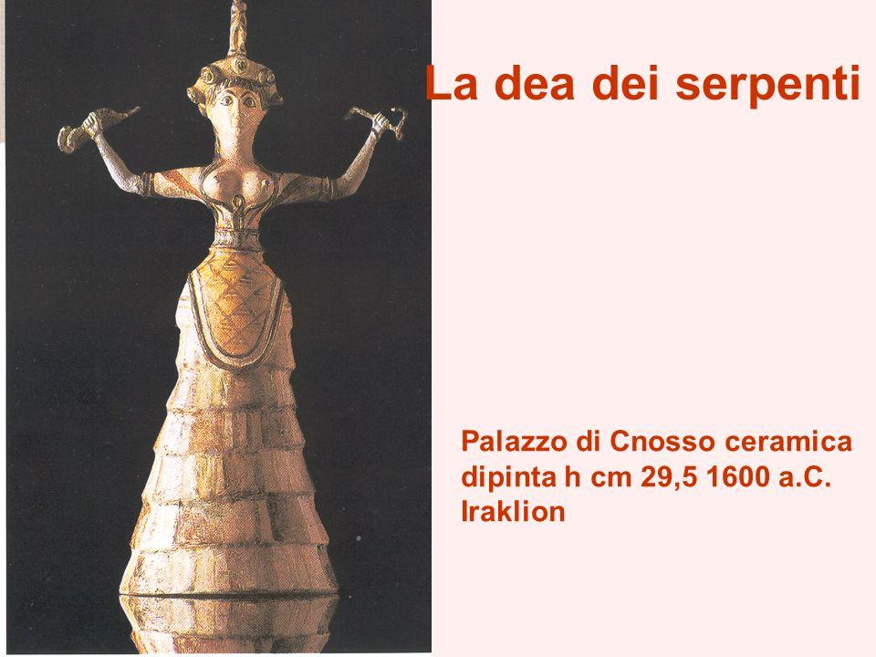 La dea dei serpenti Palazzo di Cnosso ceramica dipinta h cm 29,5 1600 a.C. Iraklion
