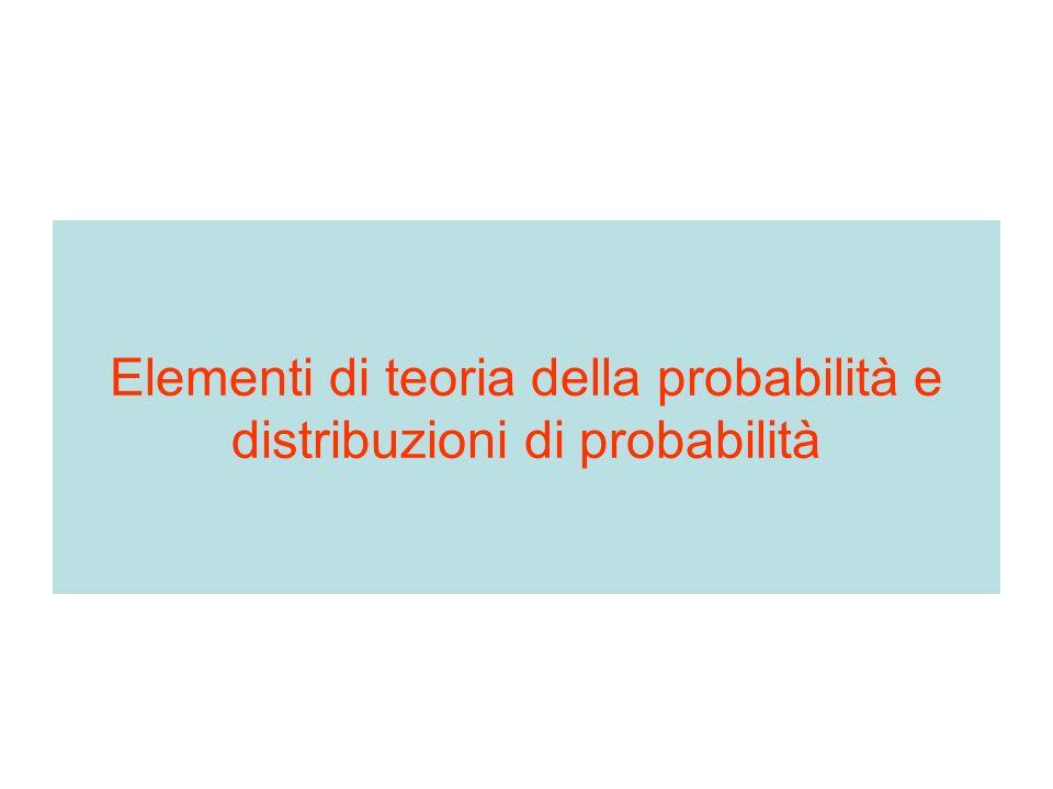 Teorema delle probabilità totali principio della somma La probabilità del verificarsi di due o più eventi tra loro incompatibili è la somma delle probabilità se il verificarsi di uno esclude il verificarsi dellaltro p(E 1 o E 2 ) = p(E 1 ) + (E 2 )