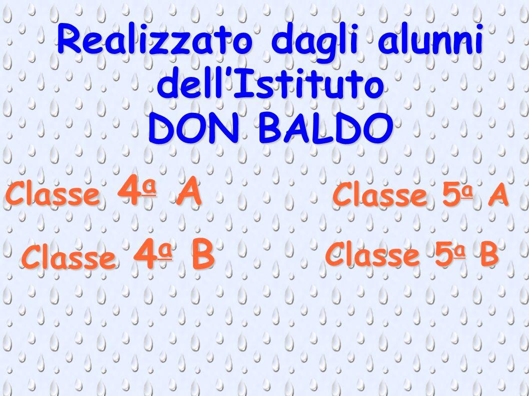 Realizzato dagli alunni dellIstituto DON BALDO Classe 4 a A Classe 4 a B Classe 5 a A Classe 5 a B