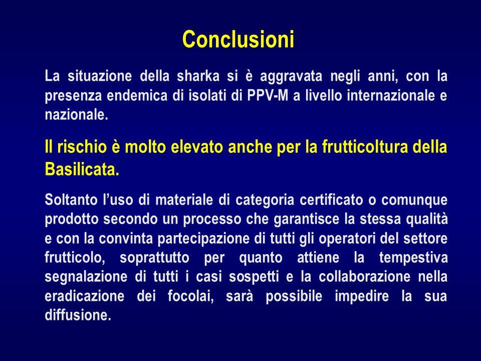 La situazione della sharka si è aggravata negli anni, con la presenza endemica di isolati di PPV-M a livello internazionale e nazionale. Il rischio è