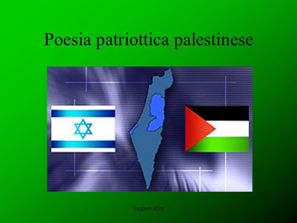 Taglietti Rita Poesia patriottica palestinese