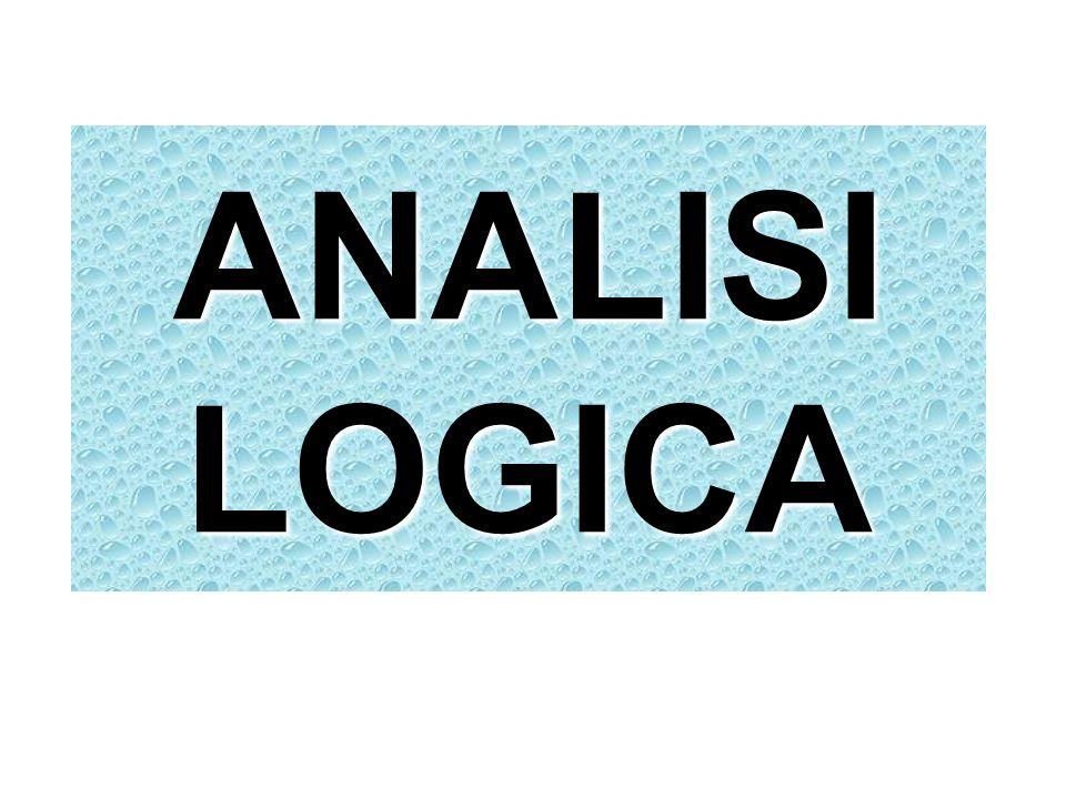 ANALISI LOGICA