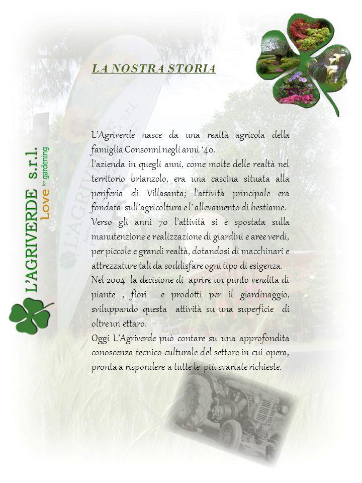 LAgriverde nasce da una realtà agricola della famiglia Consonni negli anni 40. lazienda in quegli anni, come molte delle realtà nel territorio brianzo