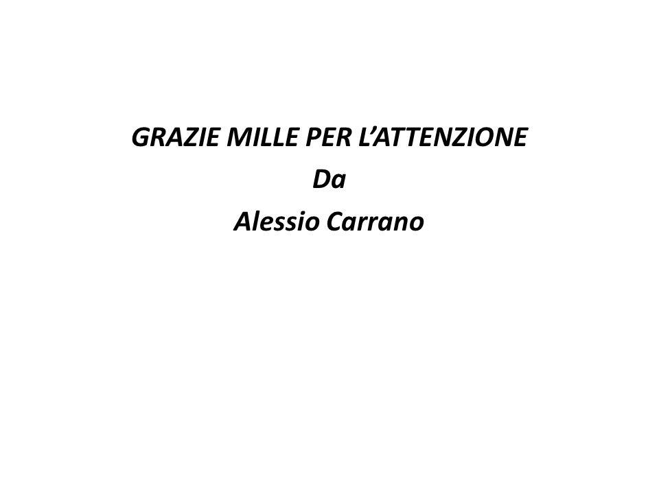 GRAZIE MILLE PER LATTENZIONE Da Alessio Carrano